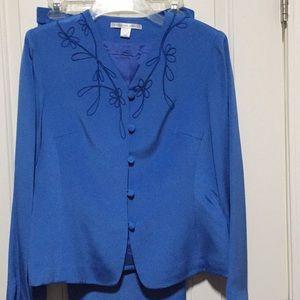Kenneth Nolan silk suit.